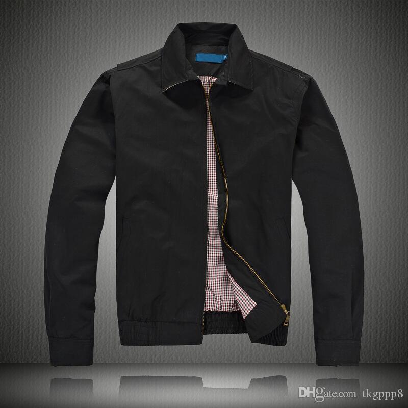 новые мужские куртки 8Ralph Lauren ветровка куртка Верхняя одежда Хаки Черный пальто вскользь ветровки высокого качества хлопка куртки Ветрокрылых синий