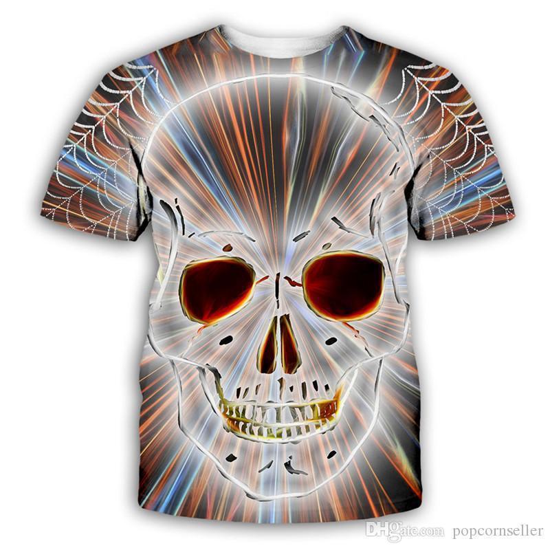 T-shirts occasionnels 3d imprimé numérique ras du cou à manches courtes T-shirt Mode Hommes Hauts Mens Fashion Designer