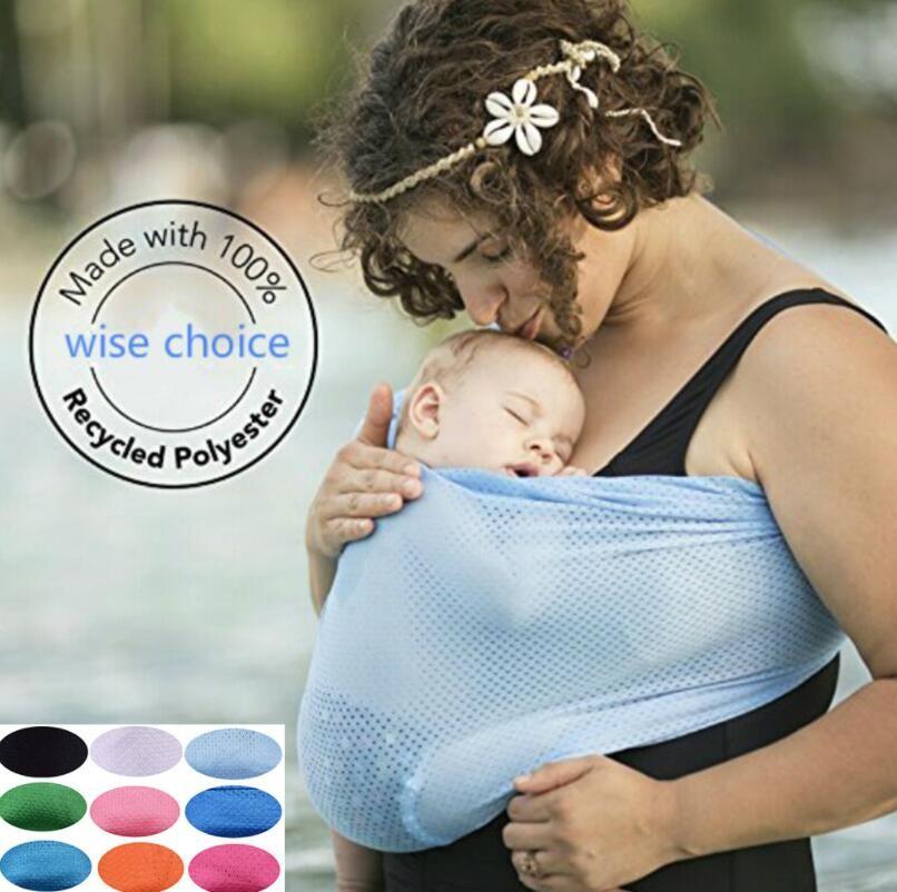 Carrier Sling bambino Wrap portante bambino del cotone Acqua per 0-18 Mesi Neonati i più piccoli | Copertura Infermieristica traspirante confortevole L'allattamento al seno Carino Nuovo