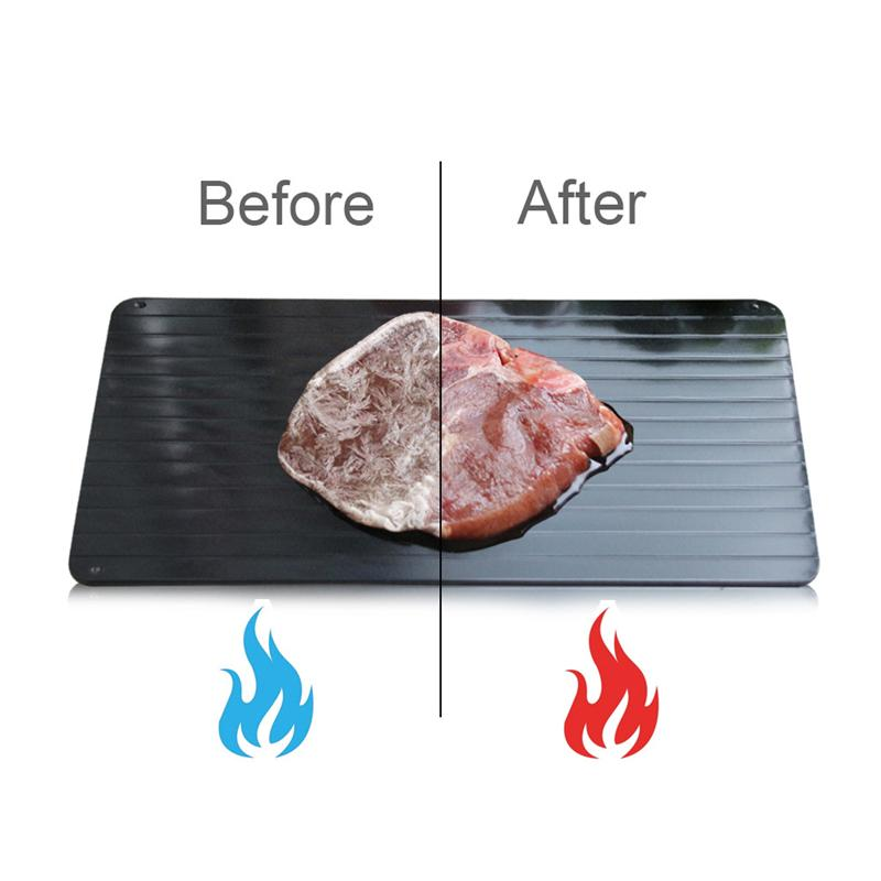 DHL إزالة الجليد صينية للأطعمة مجمدة ذوبان لوحة تذويب اللحوم / الأغذية المجمدة بسرعة دون كهرباء ميكروويف الماء الساخن أو أي أداة أخرى