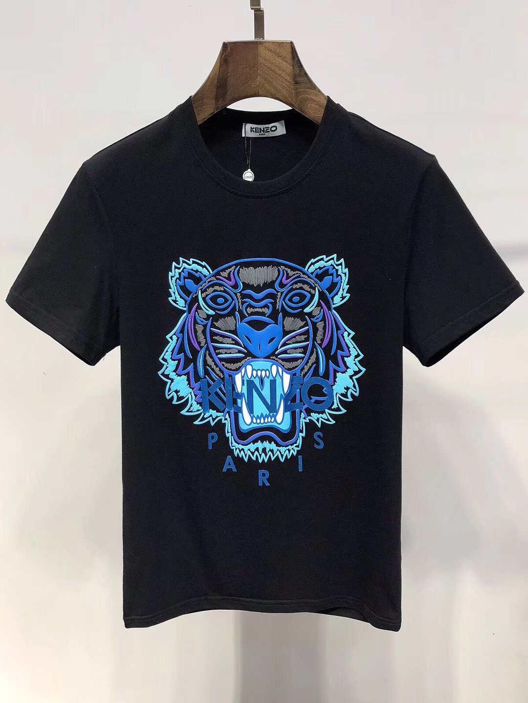 2019 Verão T-shirt Tops Femininos Carta de olho t-shirt bordado da luva Marca curta T-shirt dos homens das mulheres de alta M-XXXL