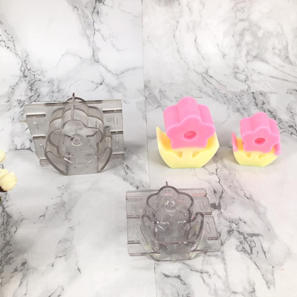Fleurs Bougies en plastique Fabrication Fournitures de bricolage Moules Transparent Artisanat Moules