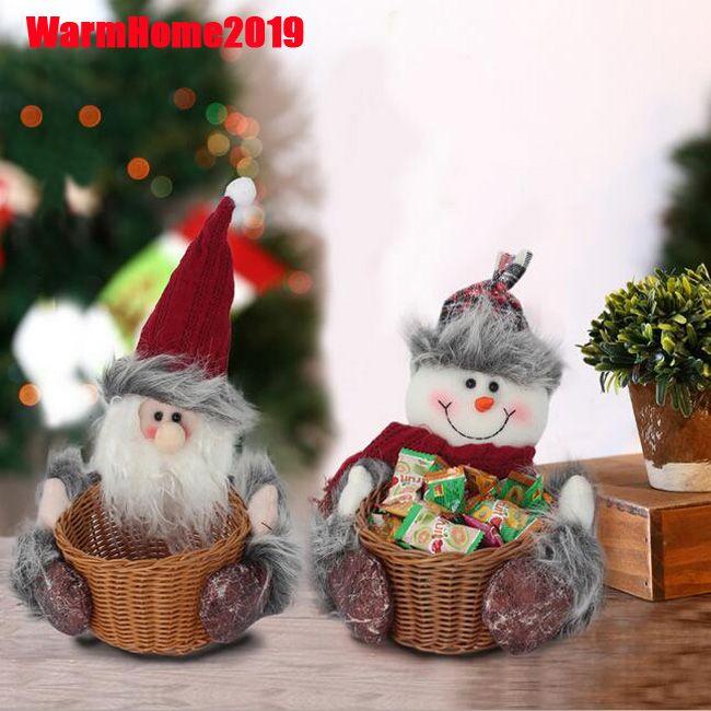 Navidad de Santa Elk muñeco de nieve de la muñeca de frutas Snacks Misceláneas la cesta del almacenaje de escritorio Inicio Cesta Decoración de Navidad Decoración para el hogar