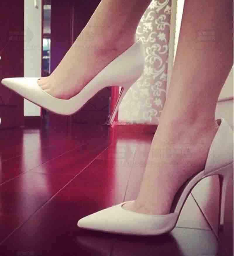 Vestido de Noiva Sapatos Mulher Bomba Iriza flor de couro pele entreabrindo Apontado Salto Toe, Salto Luxe Red Soles sandálias Red Soles Com Box