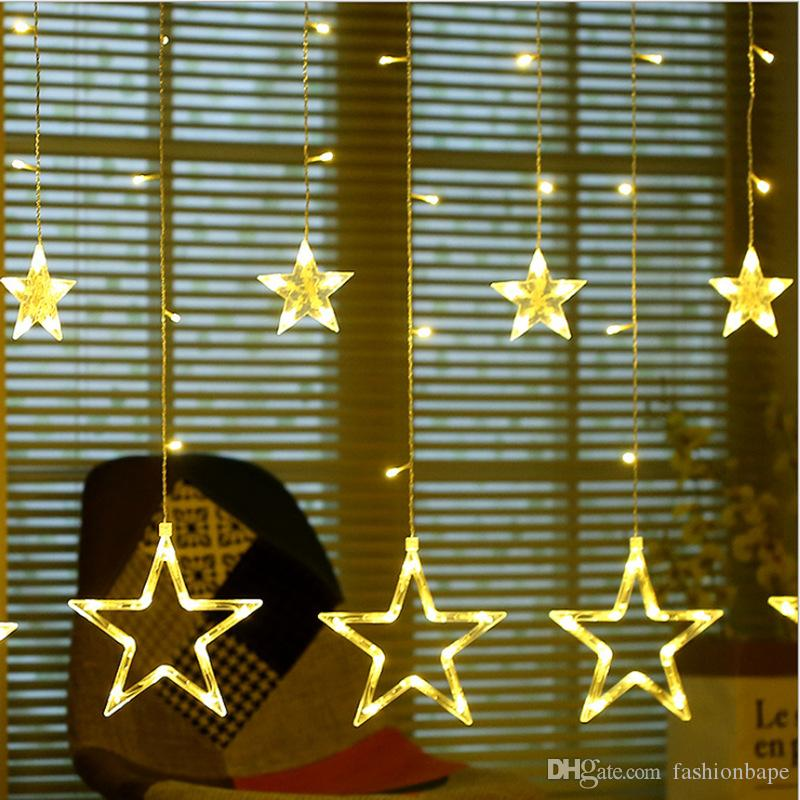 LED Star Light for Home Decor Christmas Birthday Party Fashion Curtain Light with 2 Colors Living Room Decor