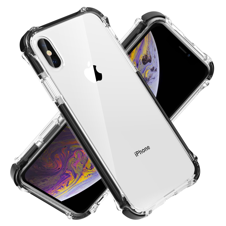 صدمات واضح غطاء الهاتف القضية لفون x xs xr xsmax case Luxury Mobile Phone Shell for Apple iphone x