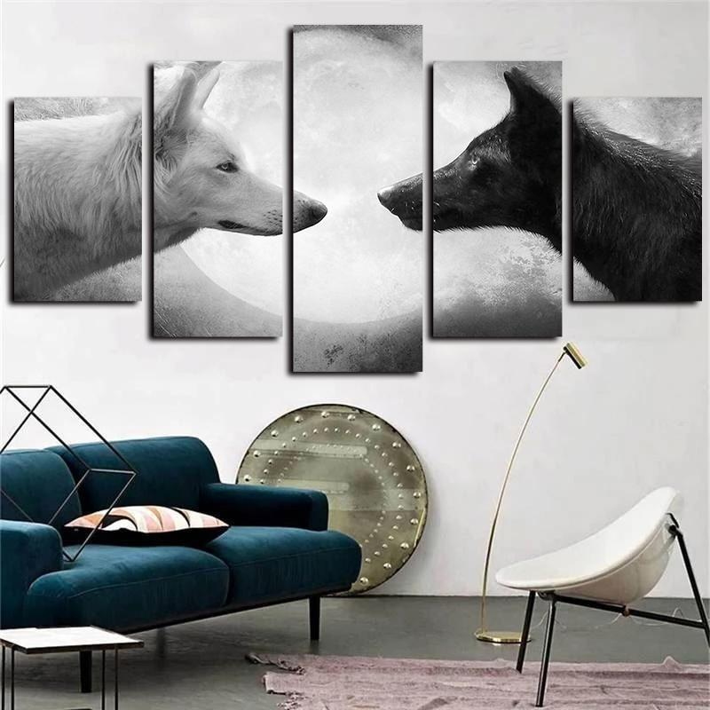 Black And White Art Large Poster /& Canvas Pictures Hunting Dog Sport Animals