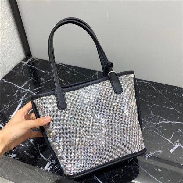 le donne di modo benna borse tutte le borse composite strass borse a tracolla femminili di marca scintillio di fascia alta borsa sacchetti di shopping di lusso del partito del club