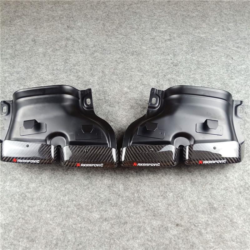 Ein Paar Für B-E-N-Z C E S CLS GLC GLE GLS Klasse W205 W166 C63 S63 GLE63 Real Carbon Auspuffblenden Endrohr Düsen