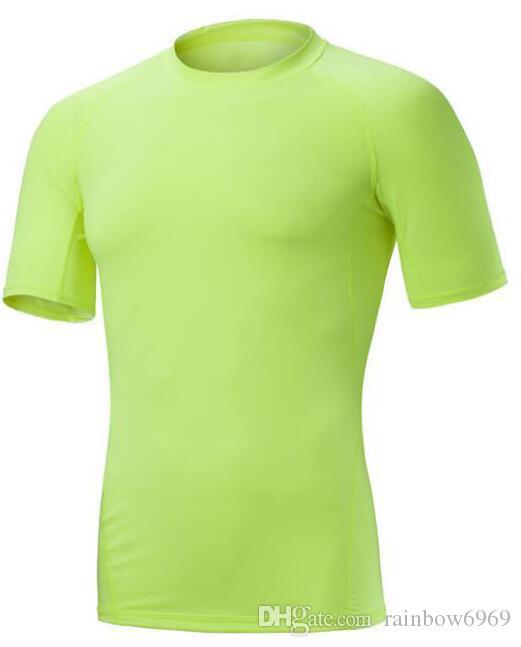 2019 мужская одежда плотно работает с короткими рукавами быстросохнущий футболку 3004
