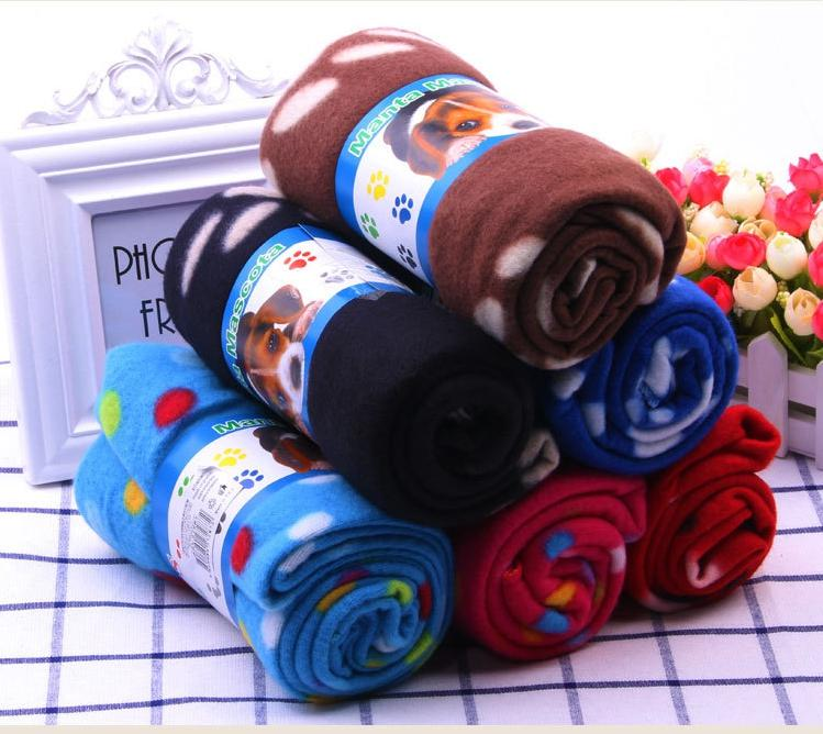 Pet Couverture de haute qualité à chaud Paw Imprimer Pet Puppy Dog Cat Bed Blanket Housse de coussin Serviette Belle Blanket Dog EEA969