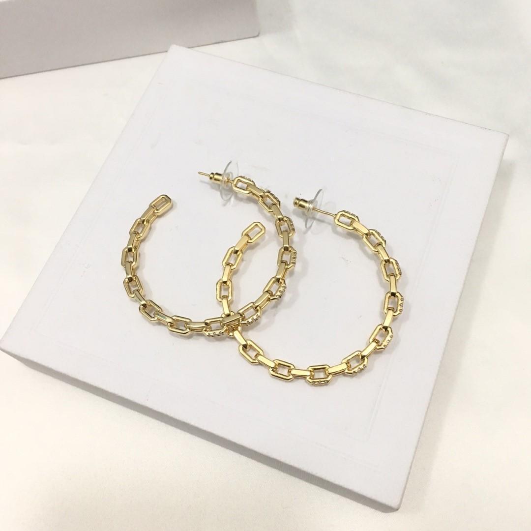 Boucles d'oreilles Hot vente de diamants de la chaîne ronde antidéflagrants boucles d'oreilles de créateurs luxe femmes bijoux design boucles d'oreilles