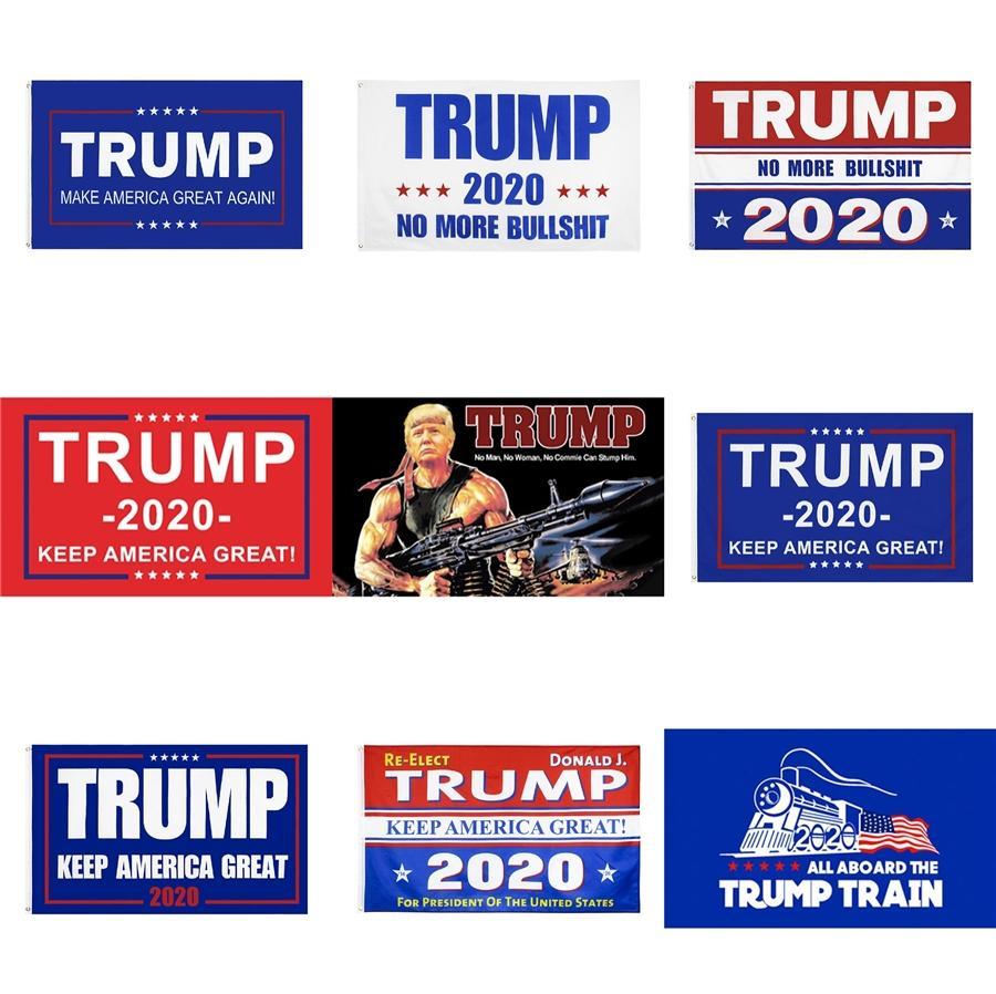 Trump Flag 150 * 90 cm Trump 2020 Keep America Große Donald Trump amerikanischen Präsidenten-Flagge Tank Banner Flags 500 1Pcs Ooa8088 # 657