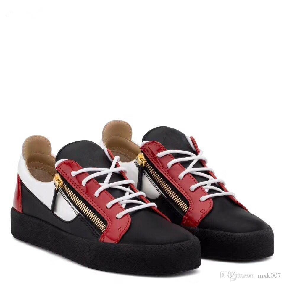 2019 Nouveau pour les hommes Party Designer Sneakers Lovers Vera High Top Spikes Pelle borchiati Casual Flats Red Bottom Scarpe di lusso kXC05