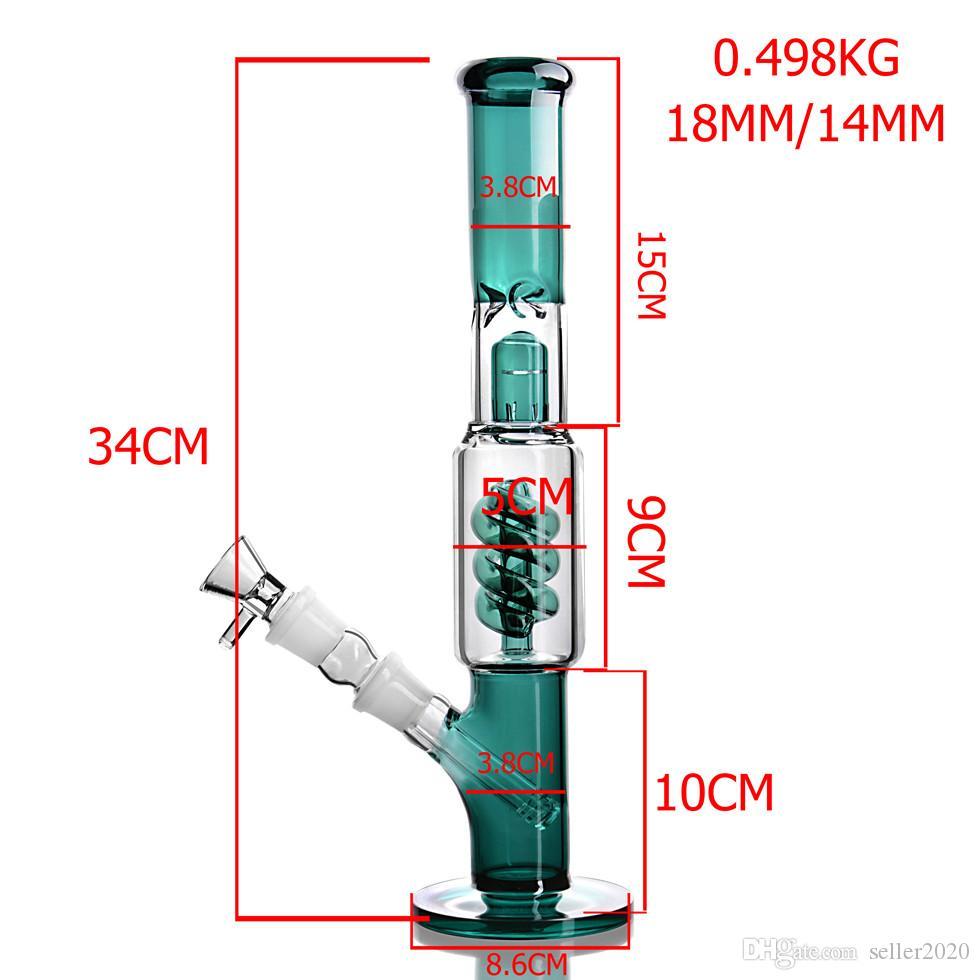 Dab Rigs Fumar Óculos de água Tubos de água Alto original Bong Chicha Downstem Perc Dabber Water Bongs Chicha com 14mm tigela tabaco