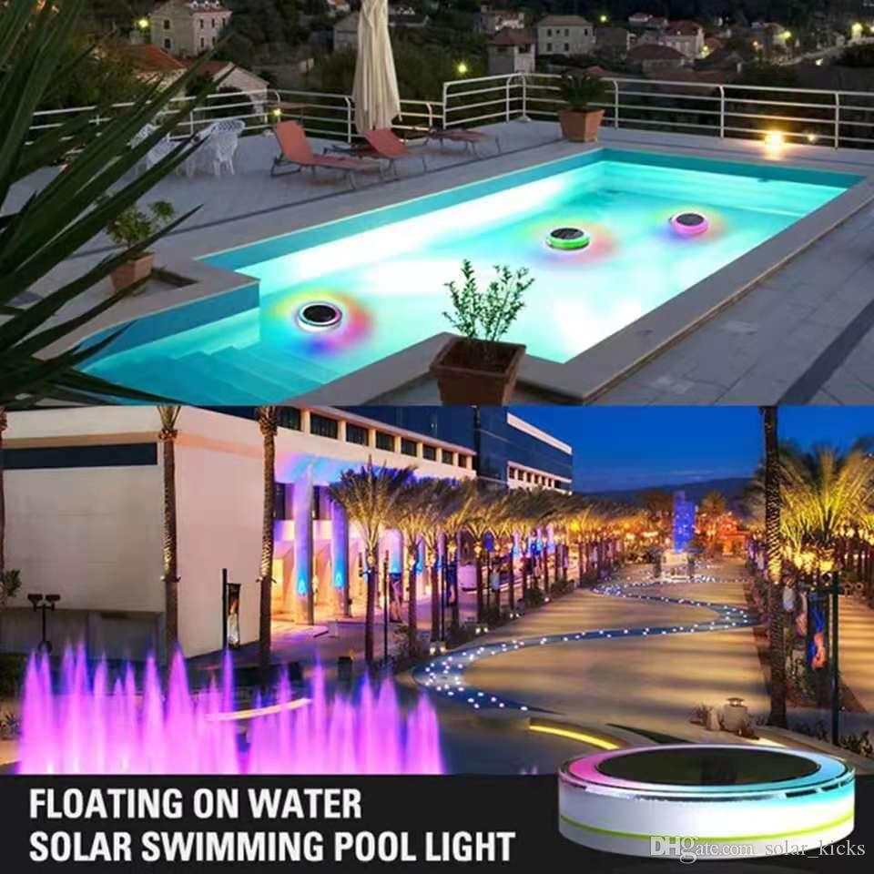 2019 Outdoor Garden Colorful Led Pond Floating Light Solar Powered  Waterproof RGB Dustproof Swimming Pool Kids Bathing Remote Control From ...