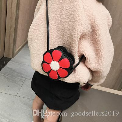kids bags 2019 Brand New girl's Purse designer crossbody bag pu six colors flowers bags baby Backpacks