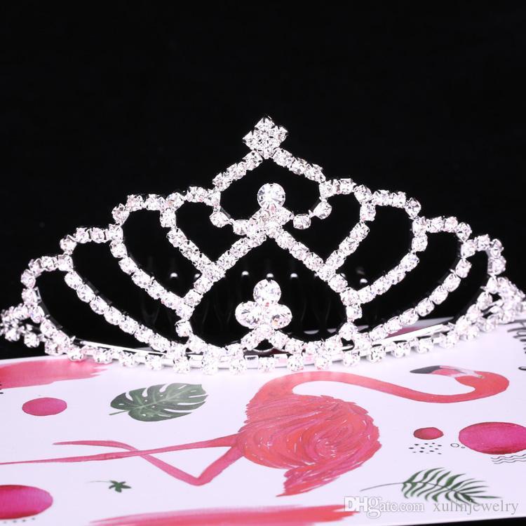 12pcs / мешок Элегантный серебряный Rhinestone оголовье головной убор Crown Диадемы с Лоб Люкс Свадебные аксессуары для волос XULIN FJBA-10