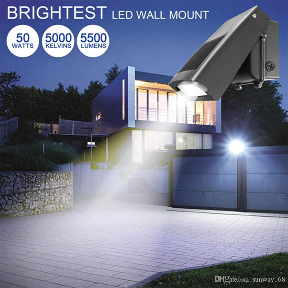 Outdoor Dusk to Dawn Photocell LED Security Light 30W Wall Mount Yard Lighting