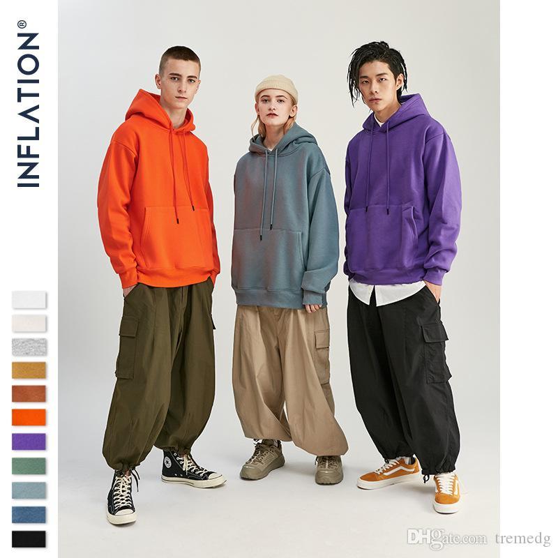 Sweater pour hommes Automne épais tweece tweece hip hop tissu velours pure hiver pour hommes femmes femmes