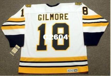 Мужская #18 HAPPY GILMORE Boston Bruins CCM Vintage RETRO Home Hockey Jersey или custom любое имя или номер ретро-Джерси
