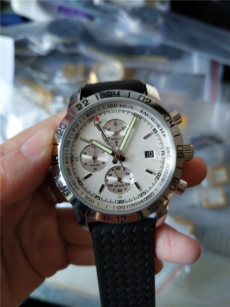 뜨거운 판매 새로운 패션 남자 남성 시계 기계식 시계 자동 스테인레스 스틸 손목 시계 고무 스트랩 (542) 시계