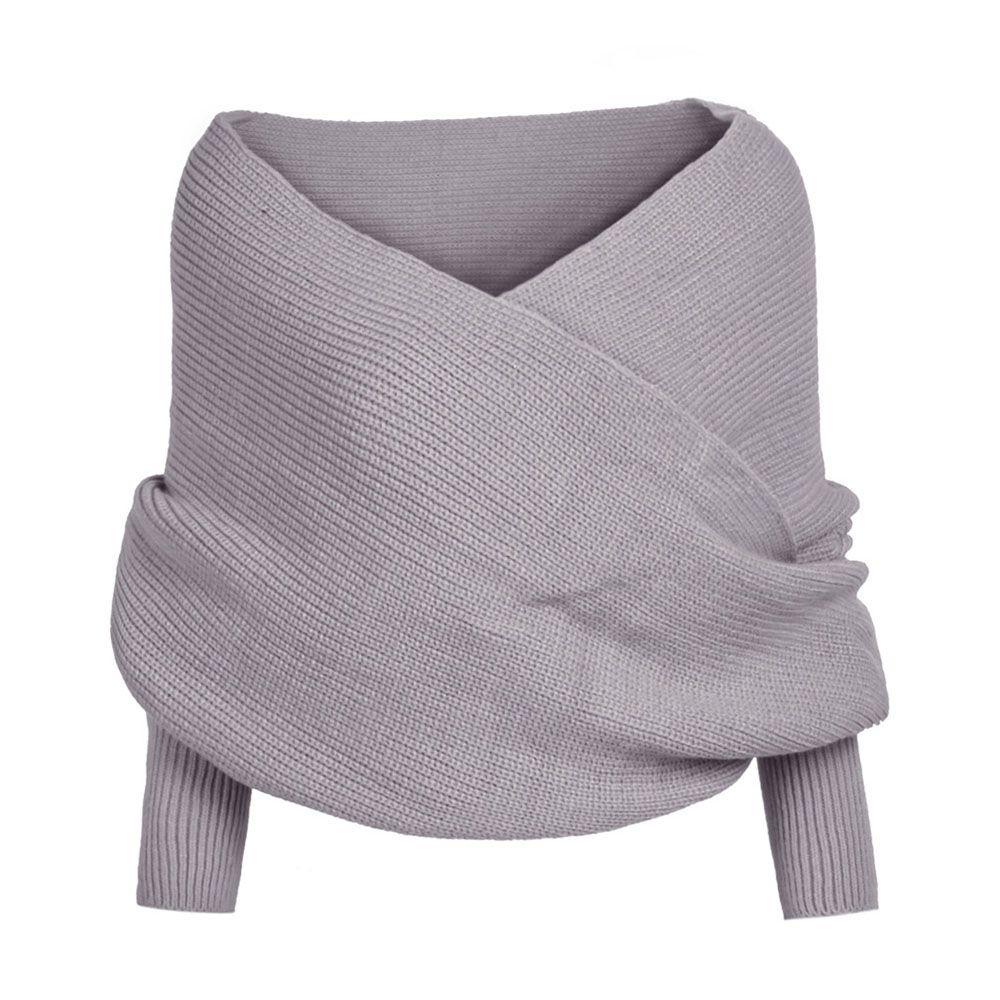 Fashion-Kenancy Women Fashion knitwear Sweaters Solid Wrap Sexy V Neck Club Cardigan Shawl Sweater Long Sleeves Casual Mujer Jumper Pull