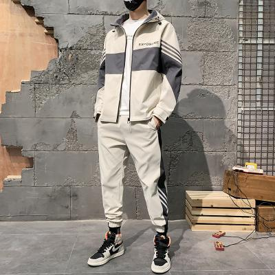 Jacket suit men 2020 spring and autumn fashion loose jacket two-piece trendy personality casual sports suit