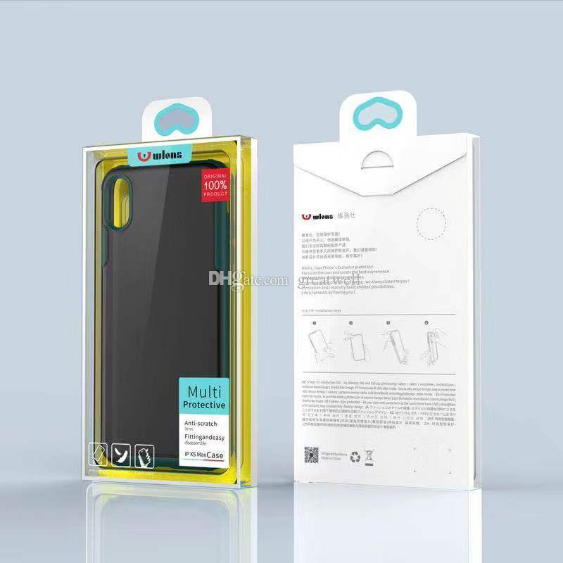 Wlons ضد الصدمات لينة TPU + PC الصلب ماتي شفاف حالة الغطاء عن اي فون 12 فون برو 11 ماكس XR XS 8 7 زائد مع صندوق البيع بالتجزئة