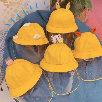 Немного свежего Рыбака Hat Обложка Face Прозрачная защитная маска ВС Shade Рыбак Hat Всплеск мальчиков и девочек EEA1326-10