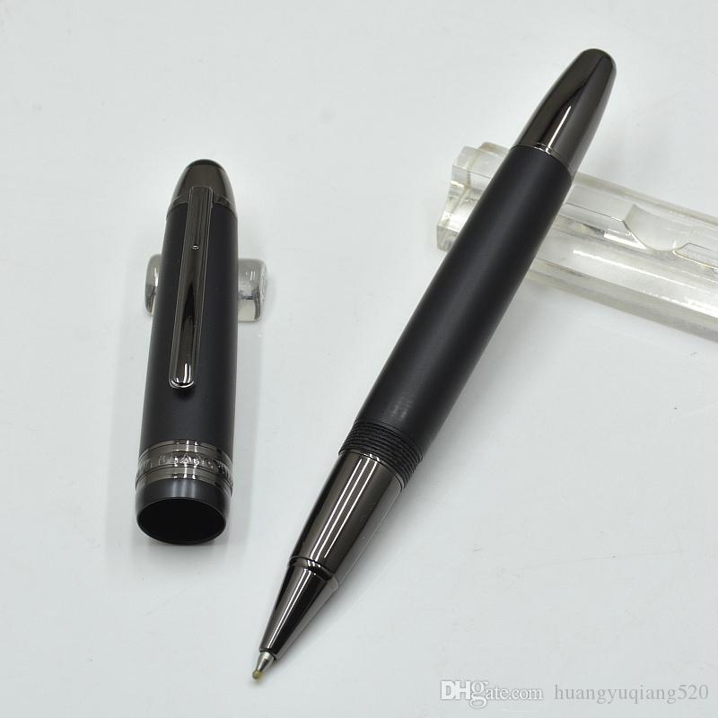 Роскошные Meisterstcke 149 матовый черный / черный / белый ролик шариковая ручка офисная техника мода шариковые ручки 0,7 мм подарок (без коробки)