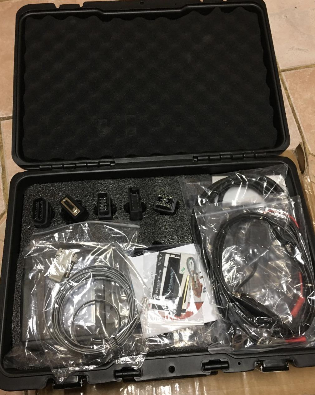 플라스틱 상자 GM / SAAB가 / OPEL / 스즈키 / 이스즈 / 홀덴 V-etronix GM 기술이 스캐너 고품질 GM TECH2 진단 도구