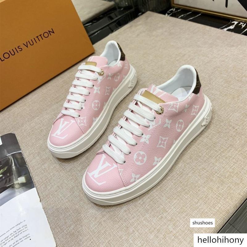 las zapatillas de deporte de las mujeres Zapatos de la zapatilla TIME OUT plataformas de tiras de cuero de las zapatillas de deporte rosa las mujeres de la correa de 35-41