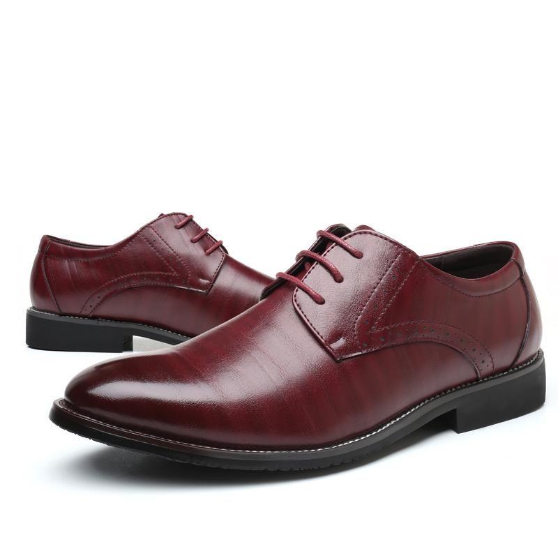 677b75f435 ... Business Plus Size Uomo 38-47 Scarpe formali Scarpe eleganti Oxford  alta qualità maschile Stringate ...