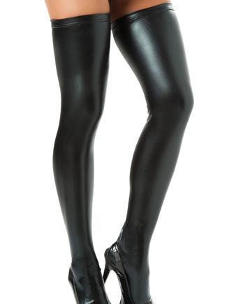 6 Colors Sexy Wet Look Stockings Women Pole Dance Latex Stockings PU Leather Night Clubwear Stocking