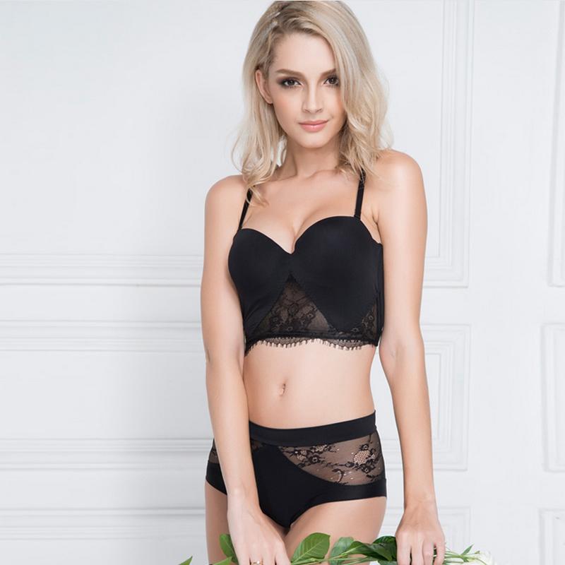 Ropa interior de alambre libre del sujetador de la ropa interior atractiva del cordón Conjunto Femme Lenceria Mujer Sex Bra Briefs interior de las mujeres