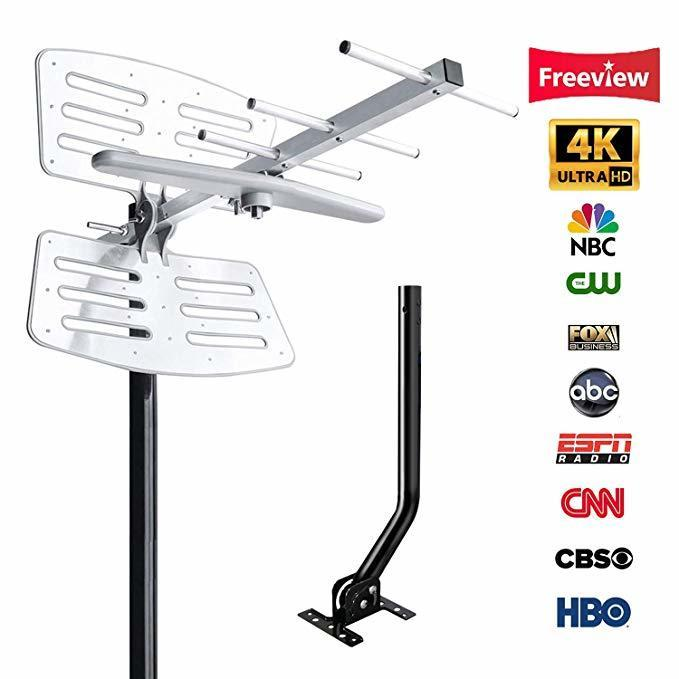 Dvb t2 antenna for digital tv antenna outdoor 200 Miles Range with signal amplifier DVB-T2 32.8ft cable outside tdt tv receptor T200608