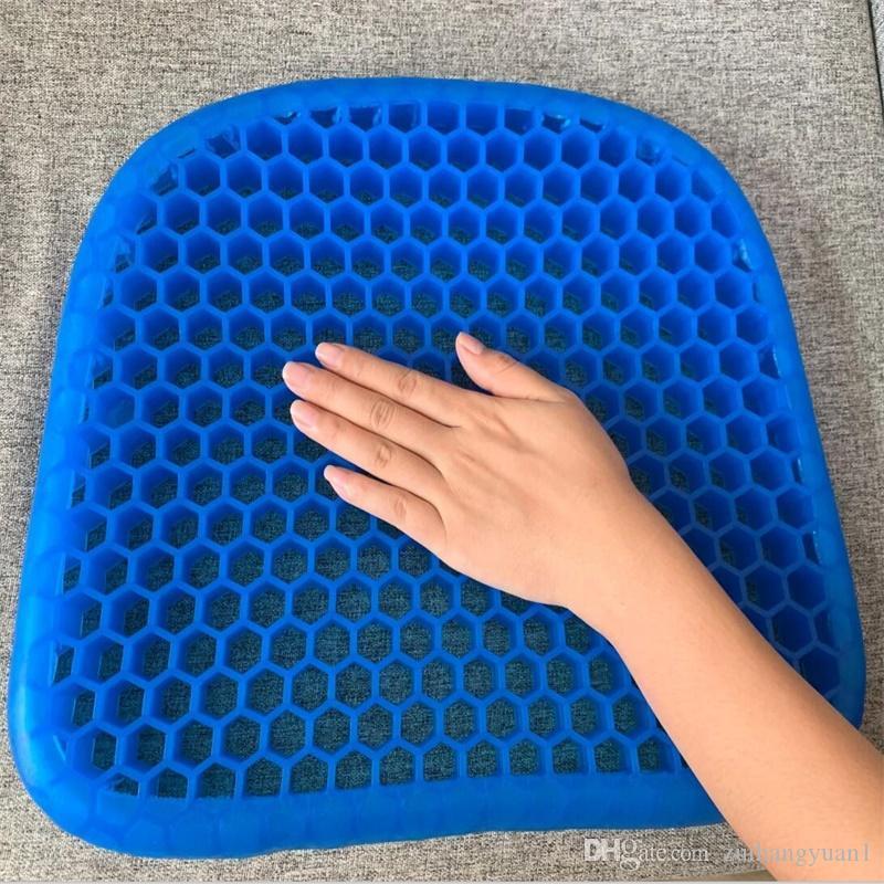 Силиконовый гель стул подушка сиделка остудить подушки сиденья 3d подушка инвалидная коляска подушка массаж дышащий сотовый автомобиль диван