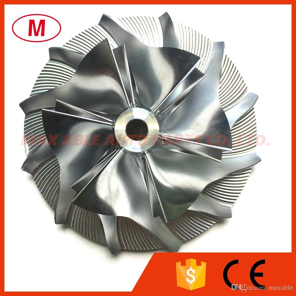 HX40 63.00 / 99.01mm 6 + 6 cuchillas Rueda del compresor Turbo Billet de alto rendimiento / Aluminio 2618 / Rueda del compresor Turbo Milling