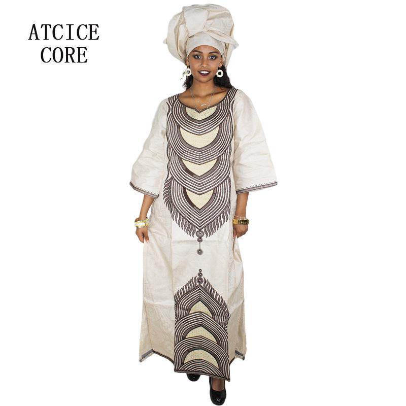 Abbigliamento etnico Abiti africani per donna Bazin ricamo design ricamo abito lungo A160