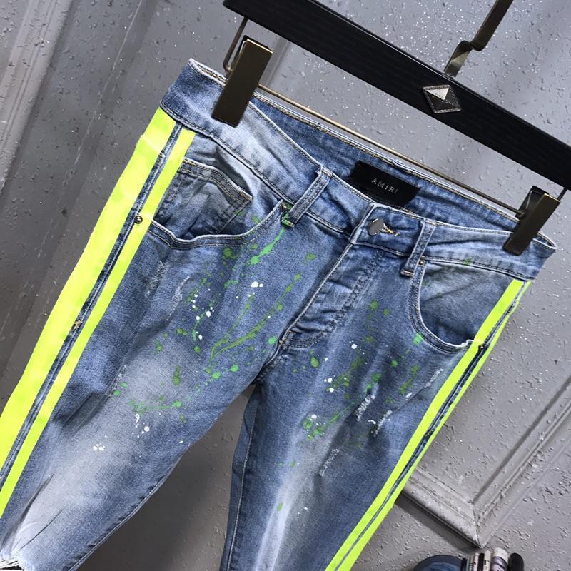 2020 NOVO Estilo Mens Jeans Moda Verão leves AM Jeans Casual Sólidos clássico Hetero Denim Designer Jeans Tamanho 29-40