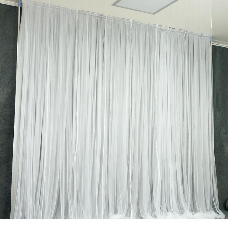 3x6m Simple White hilado de seda de tela contexto de la boda del acontecimiento del partido cubre la cortina para el fondo del banquete de boda decoración del hogar Etapa