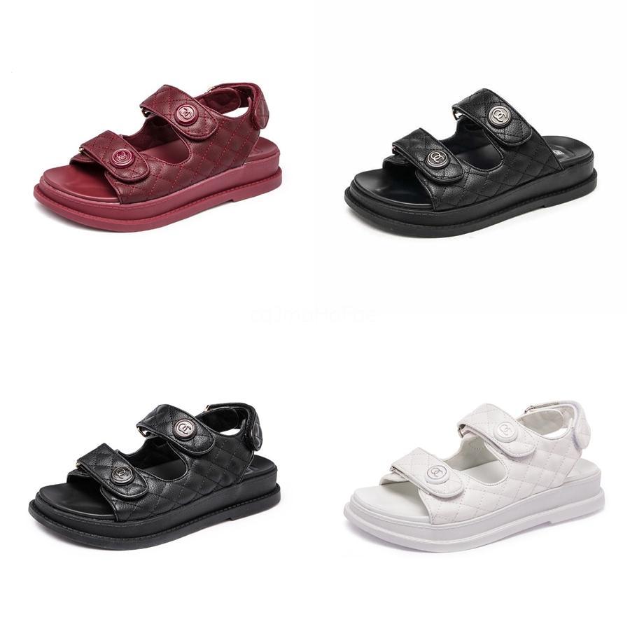 Sandalen Straps 2020 Sommer weiblichen Schuh Klare Heels Zwei Weare All-Match Velvet Schuhe Sandalen Damen Elastic Fashion Flat # 682