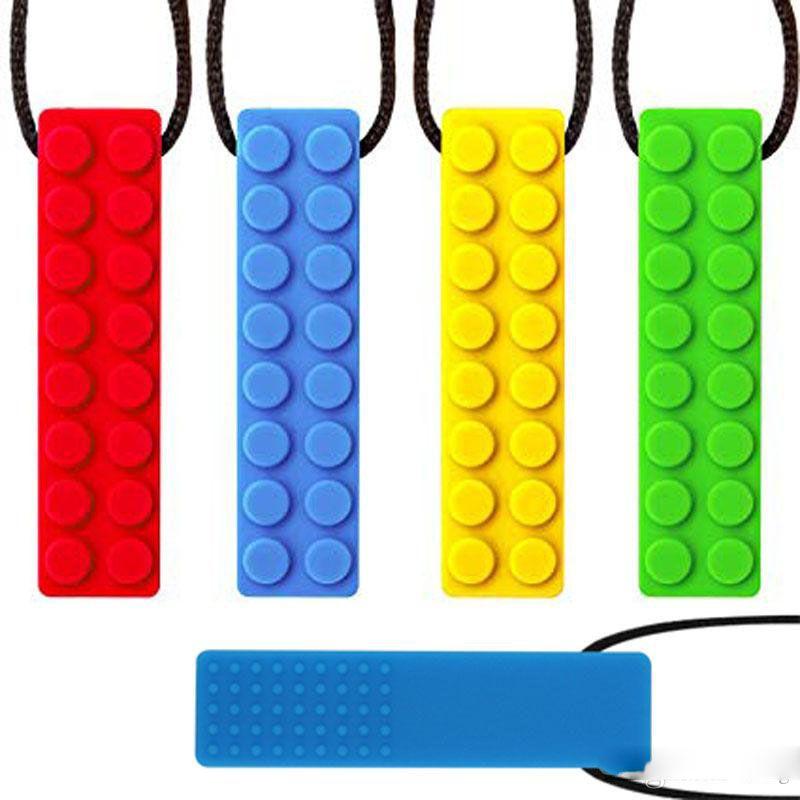 Силиконовые Chewies для Аутизма Зубного СДВГА кусаться Oral Мотор Жевательной палочка пробки игрушек Jewelry Жевательных ожерелий для мальчиков для девочек Детских взрослых