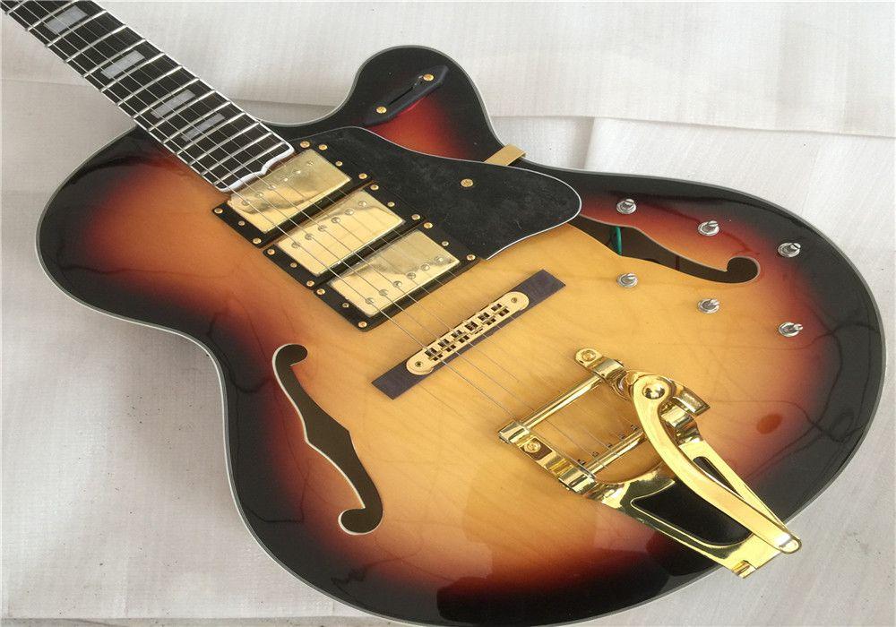 شحن مجاني l5 قوس الأعلى الجاز الغيتار الكهربائي مع 3pickups 3 humbuckers التقاطات القيثارات الكهربائية الغيتار غيتارا