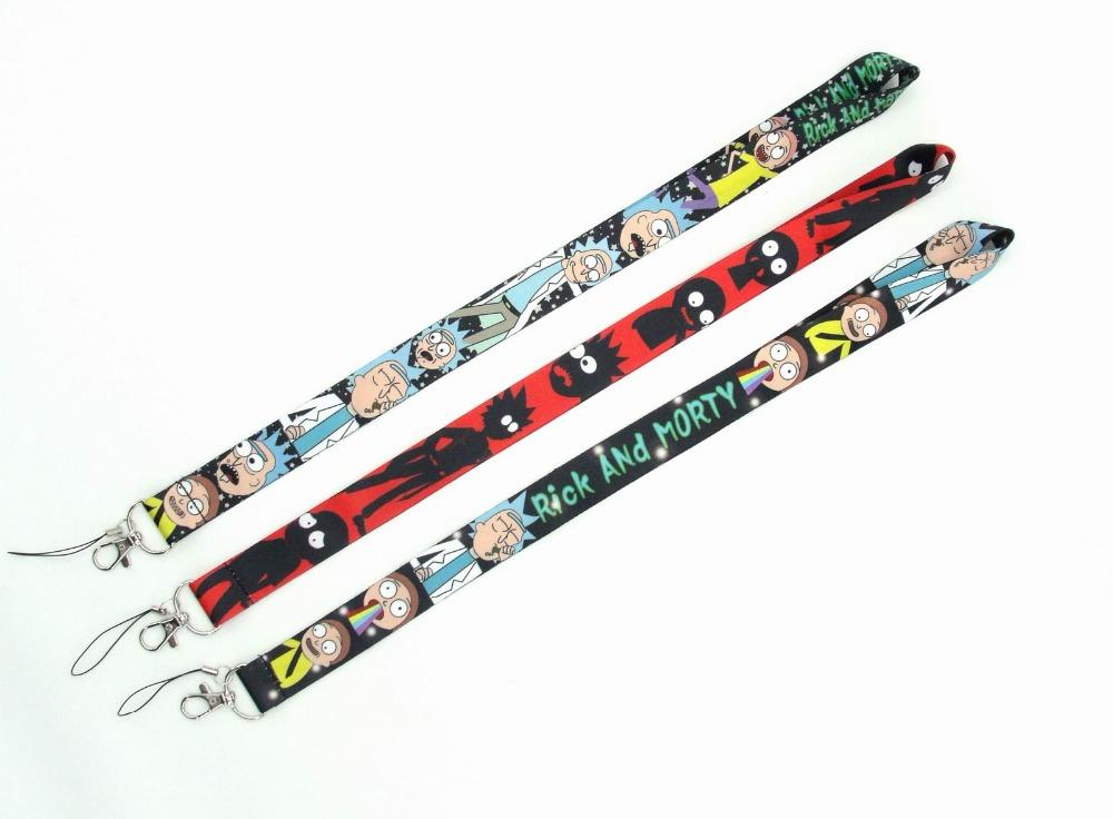 New 10Pcs cartoon Japanese anime Lanyard ID Card Holders Stars Mobile Phone Neck Straps with Keyring QW149