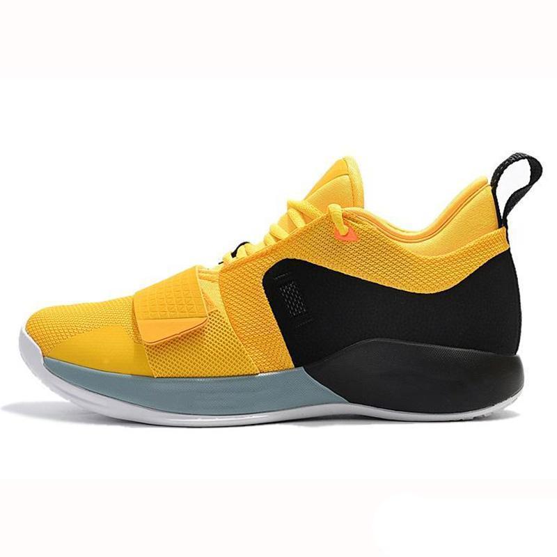 Nuevo llegan los zapatos PG 2.5 Universidad Rojo Amarillo Opti baloncesto de los hombres del corredor azul Blanco Negro Lobo gris para hombre de Paul George deportivas zapatillas de deporte