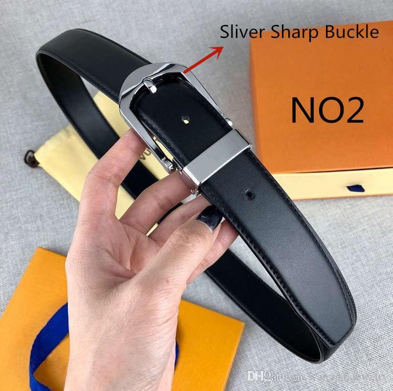 Cinturón de aguja para mujer para hombre Cinturones 16 Estilo aguja hebilla de 3,4 cm Anchura altamente Calidad