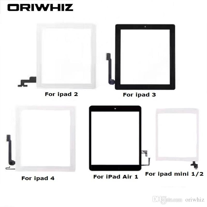 Biggest Discount For iPad 2 3 4 5 Air mini 1 2 3 Touch Screen Digitizer Assembly with Home Button and Adhesive Sticker