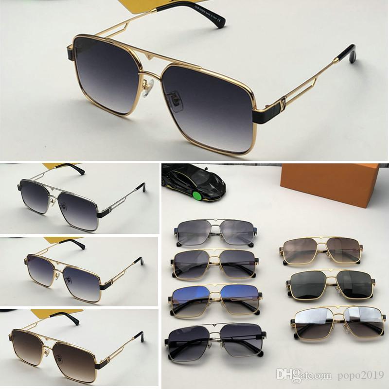 أحدث بيع شعبية مصمم أزياء الرجال نظارات شمس Z1286 لوحة مربعة معدنية عدسة إطار الجمع بين أعلى جودة UV400 مع صندوق 0936
